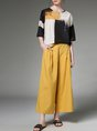 Color-block Geometric Casual Top with Pants Set