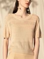 Summer Daily Knitted Solid T-Shirt