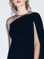 Elegant Sheath Paneled Midi Dress