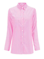 Shirt Collar Buttoned Long Sleeve Stripes Casual Plus Size Shirt
