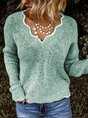 Solid Loose Fit Women Pullover Sweater