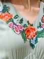 Daily Vintage Gathered Midi Dress