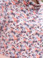 Women Multicolors Romantic Floral Cotton Tee