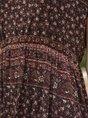 Tribal Short Sleeve Pastoral Floral Midi Dress