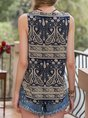 Navy Blue A-Line Holiday Top