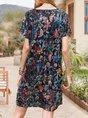 Summer Velvet Devore Vintage Midi Dress