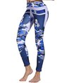 Light Purple Daily Yoga Printed Abstract Sports Leggings