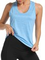 Women Yoga U-Neck Sleeveless Casual Sports Top
