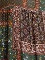Multicolors Gathered Boho Maxi Dress