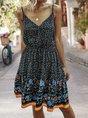 Sundress Holiday Floral Spaghetti-Strap Mini Dress