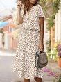 Holiday Short Sleeve Midi Dress