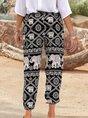Printed Tribal Boho Pockets Pants