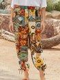 Women Vintage Printed Floral Pants