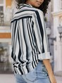 Long Sleeve Daily Stripes Blouse