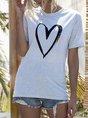 Crew Neck Printed Casual T-Shirt