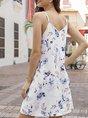 V Neck Shift Holiday Mini  Dress