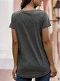 Solid Color-Block Short Sleeve T-Shirt