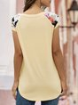 Printed Solid Simple Short Sleeve T-Shirt