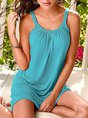 Scoop Neckline Beach Holiday  Dress