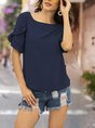 Crew Neck Short Sleeve Daily Top