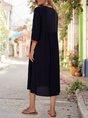 Square Neck Shift Vintage Floral Midi Dress