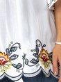 Tribal Embroidered Short Sleeve Vintage Top