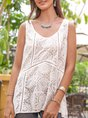 White Chiffon Sleeveless Holiday Top