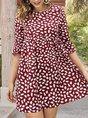 Shift Holiday Printed Mini Dress