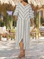 Stripe Shift Casual Casual Cotton Maxi Dress