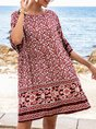 Red Shift Beach Tribal Mini Dress