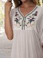 Sundress Shift Holiday Embroidered Mini Dress