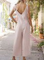 V Neck Casual One-Pieces Jumpsuit