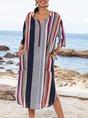 Summer V Neck Half Sleeve Dresses