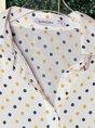Vintage Shirt Collar Cotton Polka Dots Blouse