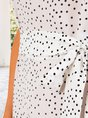 White A-Line Holiday Sleeveless  With Belt Midi Dress
