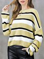 Striped Crew Neck Long Sleeve Sweater