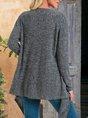 Deep Gray Shift Casual Outerwear