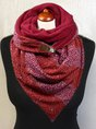 Red Printed Casual Scarve