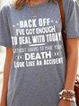 Letter Print Short Sleeve Loose T-shirt