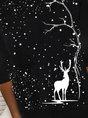 Casual Christmas Hoodie Abstract Sweatshirt