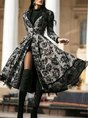 Vintage As Picture Long Sleeve Party Solid Coat