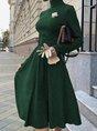 Turtleneck  Formal Elegant  Midi Dress