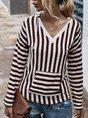 Stripes Long Sleeve Vintage Hoodie Top