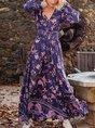 A-Line Long Sleeve Dress