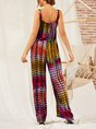 Gradient Casual Square Neck Ombre/tie-Dye One-Pieces