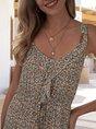 Spaghetti-Strap A-Line Beach Maxi Dress