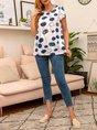 Batwing Polka Dots Cotton T-Shirts
