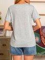 Short Sleeve V-neck Shirts