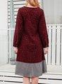 Wine Red Shift Holiday Midi Dress