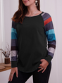 Striped Long Sleeve Casual T-Shirt